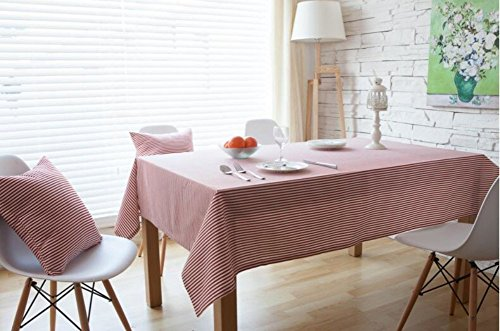 kingdeson-cotton-linen-rectangle-modern-stripes-kitchen-tablecloth