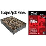 A-Maze-n Pellet Smoker 5x8 with Traeger PEL304 Apple BBQ Pellets, 1 lb.
