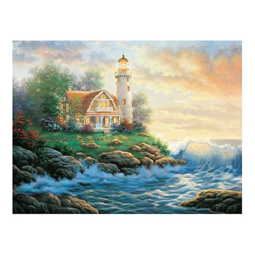 Master Pieces A Perfect Place Lighthouse 550 Piece Jigsaw Puzzle