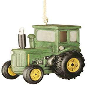 Red Carpet Glass Studios Birdie In The Woods Birdhouse, Green Tractor