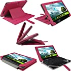 iGadgitz Pink 'Guardian' PU Leather Case Cover for Asus Eee Pad Transformer & Keyboard Dock TF300 TF300T 10.1 Android Tablet