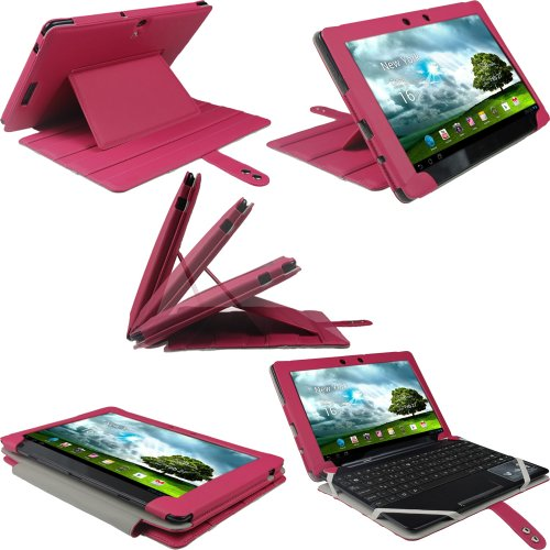 iGadgitz Pink Guardian PU Leather Case Cover for Asus Eee