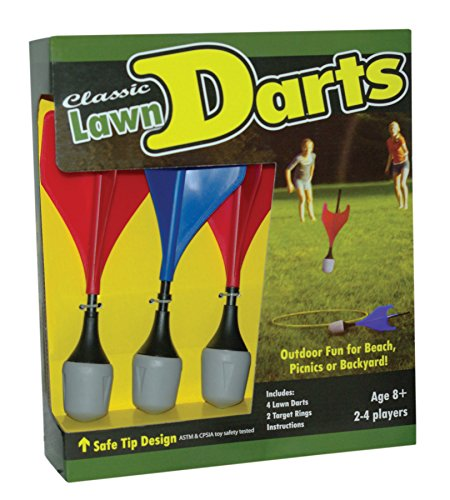 Learn More About Maranda Classic Lawn Darts, Royal Blue/Red