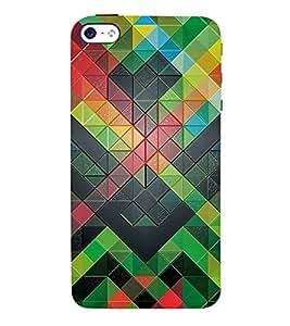 3D Checks Pattern 3D Hard Polycarbonate Designer Back Case Cover for Apple iPhone 4S