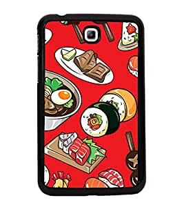 ifasho Designer Phone Back Case Cover Samsung Galaxy Tab 3 (7.0 Inches) P3200 T210 T211 T215 LTE ( Flower Colorful Pattern Design )