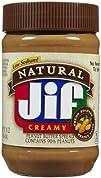 Jif Natural Creamy Peanut Butter  16 oz