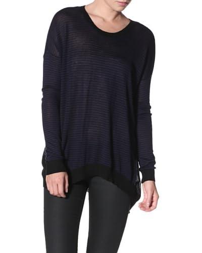 Wilt Women's Striped Back Slant Sweater