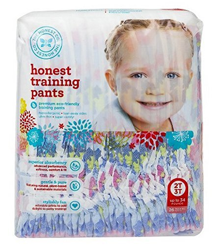 The Honest Company Training Pants ( Chambray Floral, Size 2t/3t) 26 training pads - 1