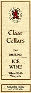 2009 Claar Cellars Estate White Bluffs Vineyard Riesling Ice Wine 375 mL