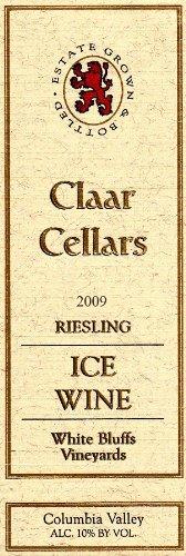 2009 Claar Cellars Estate White Bluffs Vineyard Riesling Ice Wine 375 Ml
