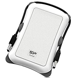 Slicon Power SP010TBPHDA30S3W Shockproof Portable Hard Drive (White)