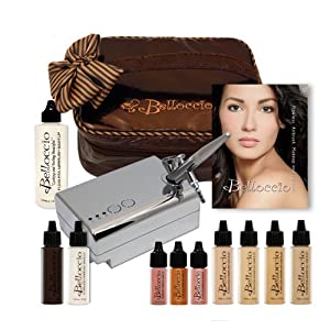 Airbrush Makeup Systems on Belloccio S Complete Professional Airbrush Cosmetic Makeup System