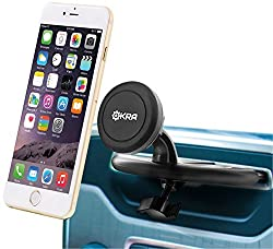 Okra ' Universal Powerful Magnetic CD Slot Car Mount Cradle-less for all Smartphones & GPS, Apple iPhone 6 Plus 6 5S 5 4S Samsung Galaxy S6 S5 S4 Note 4 3 2 (Retail Packaging)