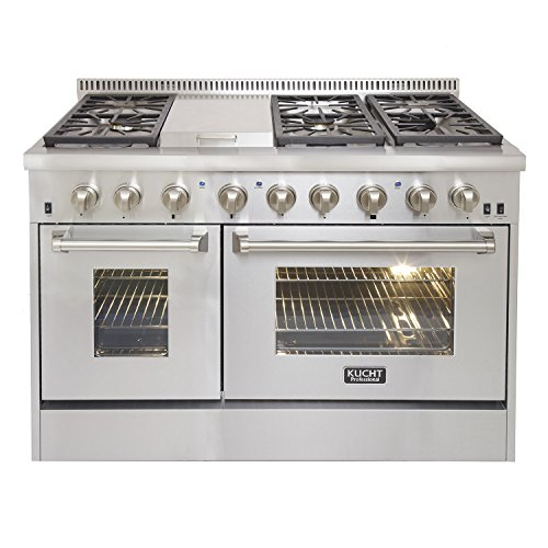 KUCHT-KRD486F-Pro-Style-48-in-67-cu-ft-Dual-Fuel-Range-with-Sealed-Burners-Griddle-and-Convection-Oven-in-Stainless-Steel