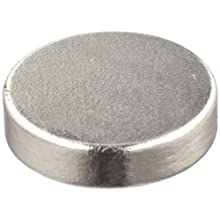 "Neodymium Rare Earth Magnet Discs, 0.472"" Diameter, 0.118"" Thick (Pack of 6)"