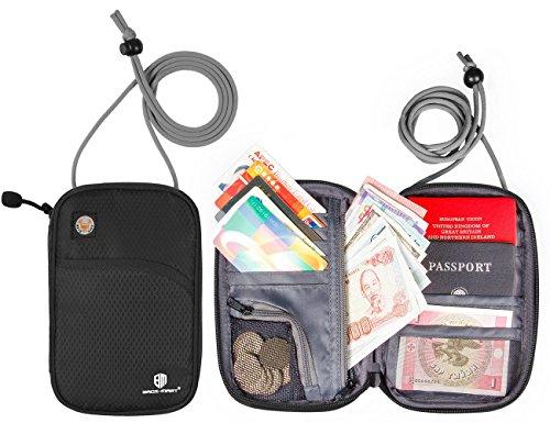 (バッグ・マート)Bags-mart パスポートケース スキミング予防対策 海外旅行グッズ セキュリティ 貴重品入れ ネックポーチ IDカードケース 防犯用品 iPhone 6S Plus収納可 14ポケット搭載 バレンタイン プレゼント ギフト
