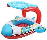 EOZY Agua Juguetes Barco Inflable de PVC de Playa para Bebé Multicolor