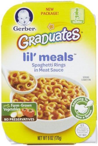 Gerber Graduates Lil Meals - Spaghetti Rings in Meat Sauce - 6 oz