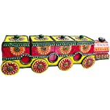 Rajasthani Wooden Dry Fruit Box Handcrafted Decorative Square,Serving Tray,Decorative Platter, Beautiful Snack Box Containers, Box, Platters For Storing And Serving Dry Fruits, Sweets, Chocolates, Fancy Multipurpose Decorative, Traditional