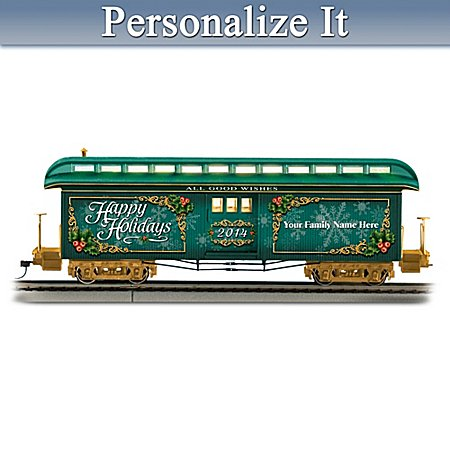 2014 Personalized Illuminated Holiday Train Car In On30 Scale: 1 Of 2,014