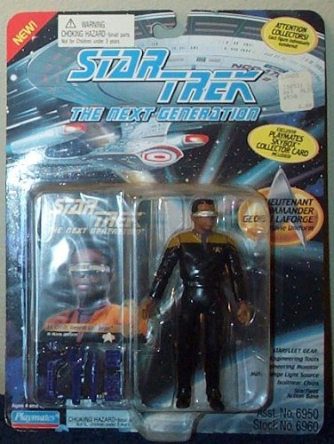 "Star Trek the Next Generation Lt. Commander Geordi Laforge in Movie Uniform 4.5"" Action Figure by Playmates"