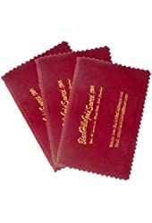 Silver Cleaning Cloth for Jewelry, Coins and Other Valuables - 3-pack - Four Section Jewelry Care Cloth Cleans, Polishes and Protects Gold, Silver and Other Metals, by BlackHillsGoldSource