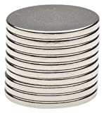 BYKES 10 Neodymium Super Strong Extremly Powerful Rare Earth Refrigerator Magnets 3/4 x 1/16 inch Disc N48