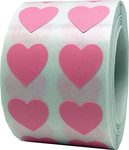 Small Pink Heart Stickers - Tiny 1/2 Inch - 1,000 Total Heart Shape Stickers - Valentine Hearts 8x10ft valentine s day photography pink love heart shape adult portrait backdrop d 7324