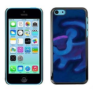 Amazon.com: iKiki Tech / Hard Case Cover - Cave Painting Blue Purple