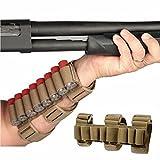 GVN 8 Rounds Gun Ammo Storage Shotgun Shell Holder Adjustable Shooters Forearm or Buttstock Sleeve Magazine Pouch FDE