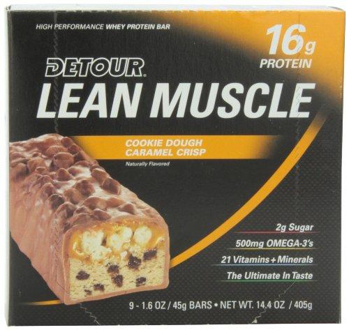 Forward Foods Detour 45 g Cookie Dough Caramel Crisp Whey Protein Snack Bars - Box of 9