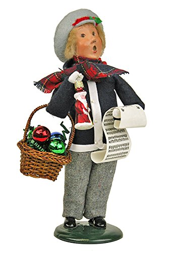 Byers Choice Caroler – Boy with Glass Ornaments – Christmas Decoration