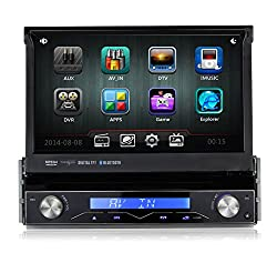 See Pumpkin 7 Inch In Dash HD Touch Screen Car DVD Player GPS Navigation Stereo Support Bluetooth/SD/USB/Ipod/AV-IN/DVR/3G Details