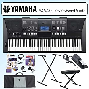 yamaha psr e423 synth focused 61 key portable keyboard. Black Bedroom Furniture Sets. Home Design Ideas