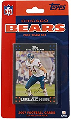 2007 Topps Chicago Bears Team Set Trading Cards (12 Cards)