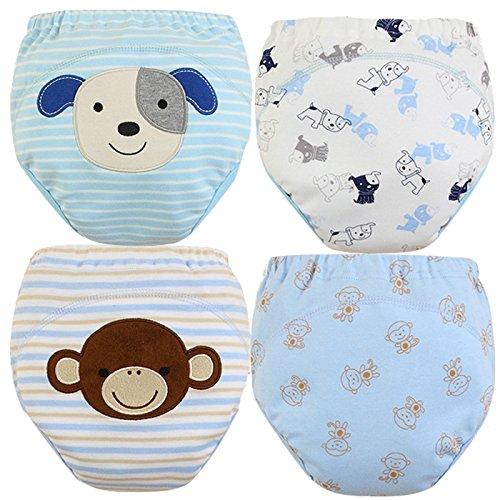 MOM-BAB-Toddler-Training-PantsUnderwear-Water-resistentBest-QualityMachine-Washable-ReuableCutest-DesignsSoft-CottonComfortable-Fit3-layers4-Different-Limited-Design-PatternsSet