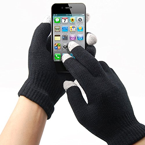 TRIXES Guanti Invernali uomo/donna per touch screen, iPhone, iPad, Smart Phone