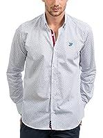 JACK WILLIAMS Camisa Hombre (Blanco / Azul)
