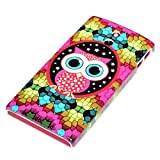 DeinPhone Mosaic Owl Large Eyes Case Cover Bumper for Sony Xperia P LT22i