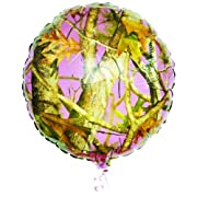 Pink Camo 18 Mylar Balloon (each)