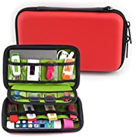 Homeself Hard Shell Carrying Case Electronic Accessories Organizers For U Disk SD Card USB Flash Drives Power...