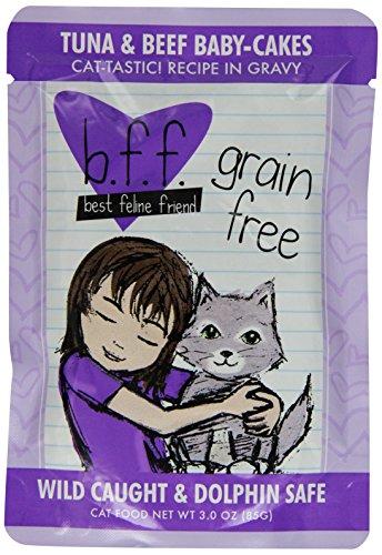 Weruva 784221 12-Pack Best Feline Friend Tuna/Beef Baby Cake, 3-Ounce front-54327