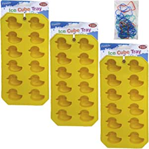 Amazon Com 3 Piece Rubber Ducky Mold Tray Value Set 3