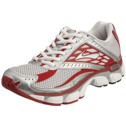 Brooks Women's Glycerin 8 (DNA) Running Shoe White/Silver/Bright Red 6.5 UK