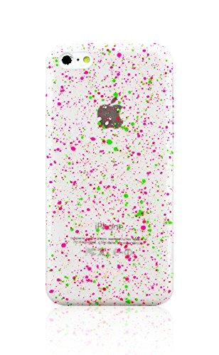 Livitech(Tm) Granite Stone Design Glow In The Dark Protective Hard Case For Apple Iphone 5C (Green Hot Pink)