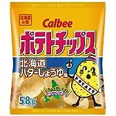 カルビー ポテトチップス北海道バターしょうゆ味 58g×12袋