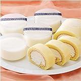 ≪ホワイトデースイーツ≫Patissier Louise 純生ロールケーキ&とろけるレアチーズケーキセット