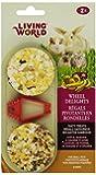 Living World 2-Pack Small Animal Wheel Pet Treat Delights, 2.4-Ounce, Apple/Banana/Orange