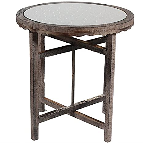 Benzara ETD-EN50153 Uniquely Designed Round Wooden Coffee Table
