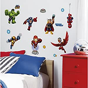 ROOMMATES RMK1751SCS Marvel Super Hero Squad Peel and Stick Wall Decals